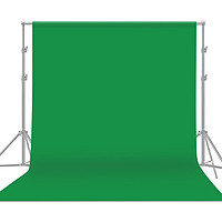 1.8 * 2.7m / 6 * 9ft Professional Green Screen Backdrop Studio Photography Background Washable Durable Polyester-Cotton