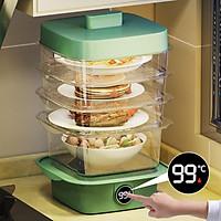 Lồng bàn đậy thức ăn 5 Tầng phiên bản nâng cấp 2021- Lồng bàn giữ nhiệt tự hâm nóng thức ăn -Hộp bảo quản thức ăn giữ nhiệt
