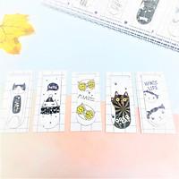 Combo 5Bookmark Nam Châm Magnet ( Đánh Dấu Sách ) Meo Meow Dễ Thương Màu Sắc