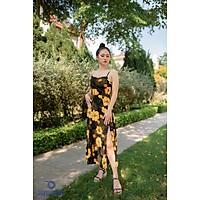 Váy Đầm Hai Dây Lụa Thanh Dương