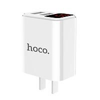 Củ Sạc Nhanh 2 Cổng USB Có Màn Hình LED Hoco C63 + Tặng Cáp Lightning - Chính Hãng