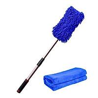 Chổi rửa xe cán điều chỉnh chiều dài kèm khăn lau