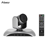 Aibecy 1080P HD Conference Camera USB Plug & Play 3X Zoom 360° Rotation with Remote Control Power Adapter for Video