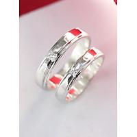 Nhẫn đôi bạc đơn giản ND0271
