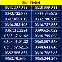 SIM SỐ ĐẸP VIETTEL - LIST DS7 - Số dễ nhớ, thần tài, số cặp - Chọn Số Theo Danh Sách - SIM MỚI, ĐĂNG KÝ ĐÚNG CHỦ ONLINE