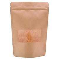 Túi giấy Kraft nâu zipper có cửa sổ 22x30cm (1kg)