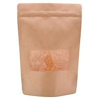 Túi giấy Kraft nâu zipper có cửa sổ 12x20cm (1kg)