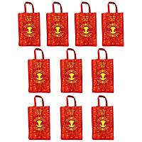 Bộ 10 túi vải đựng đồ cao cấp kích thước 40x30x12cm tiện dụng , thân thiện môi trường ,dễ dàng sử dụng, gấp gọn khi không dùng
