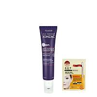 Kem dưỡng ẩm, làm giảm quầng thâm mắt dành cho nam Eau Thermale Jonzac Energizing Eye Contour 15ml + Tặng kèm 1 mặt nạ mắt Mediheal