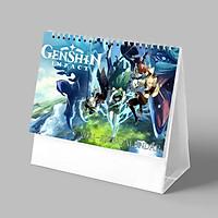 (Lịch 2021-2022) Lịch GENSHIN IMPACT in ảnh đẹp game anime lịch để bàn