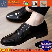 Giày tây nam công sở giá rẻ tăng chiều cao phong cách trẻ trung chất liệu da bóng đế cao su đúc - Mã GEA43