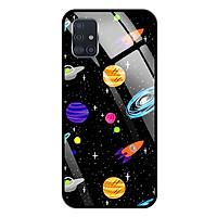 Ốp lưng Kính Cường Lực cho Samsung Galaxy A51 - 0063 SPACE04 - Hàng Chính Hãng