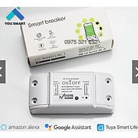 Công Tắc Thông Minh Wifi - Wifi Smart Breaker, Làm việc với App Smart Life, Tuya, Điểu Khiển Thiết Bị Từ Xa Bằng Điện Th
