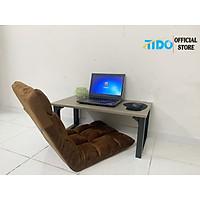 Bàn làm việc, bàn gaming ngồi bệt nhỏ 80cm - Chân to gấp gọn - Hàng chính hãng TIDO (Màu ngẫu nhiên)