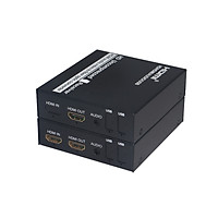 Bộ chuyển đổi kéo dài hdmi qua cáp quang Ho-link HL-HDMI-1F-3G-20T/R (2 thiết bị) - Hàng Chính Hãng