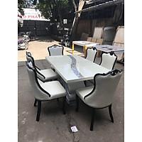 Bộ bàn ăn mặt đá nhập khẩu cao cấp TD305 1M6(6 ghế)
