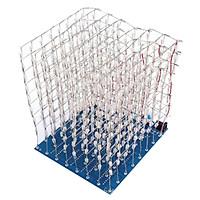 1 bộ 3D LightSquared DIY Bộ ĐÈN LED Cube 8x8x8 Màu Xanh Mạch Điện Tử DIY