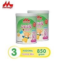 Combo 2 hộp sữa số 3 Morinaga Kodomil 850gr - hương dâu (nguyên đai, nguyên tem)