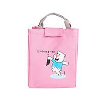 Túi đựng hộp cơm giữ nhiệt hiệu quả vải Oxford phong cách Nhật Bản size lớn 20 x19x25 cm