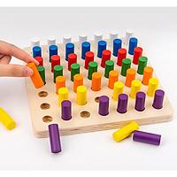 Đồ Chơi Gỗ Thông Minh Các Mẫu Hình Trụ Tròn Montessori