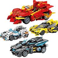 Bộ đồ chơi lắp ráp Siêu xe chất liệu nhựa ABS an toàn với hơn 200 chi tiết