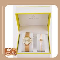 Combo Đồng hồ Nữ Julius Và Lắc tay Julius Blackcat-C-1