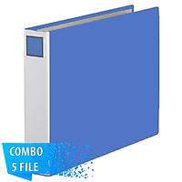 Combo 5 File đựng tài liệu cỡ A3 - 5cm - KING JIM 1005E còng ống cao cấp