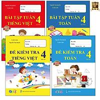 Sách - Combo Bài Tập Tuần và Đề Kiểm Tra lớp 4 - Môn Toán và Tiếng Việt học kì 1 (4 cuốn)