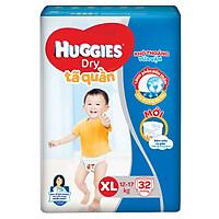 Tã Quần Huggies Dry XL32 (32 Miếng) - Bao Bì Mới