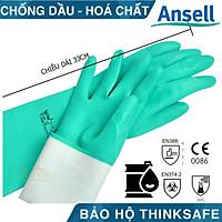 Găng tay chống hóa chất Ansell 37-176 bao tay cao su nitrile - chống hóa chất - axit - dầu nhớt