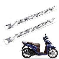 Tem xe máy kiểu chữ nổi mạ xi Niken dành cho xe Vision , Airblade , Lead , Vario , Click , Shmode , SCR , Winner , Dream Green Networks Group ( 1 bộ 2 tem )