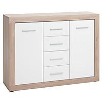 Tủ chén đĩa JYSK Favbro gỗ công nghiệp trắng 113x87x35cm