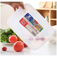 Hộp nhựa Nakaya 3L bảo quản thức ăn trong tủ lạnh, có nắp mềm - Hàng nội địa Nhật Bản