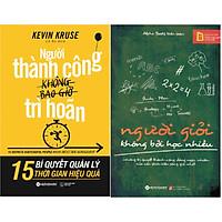 Combo Giải Mã Bí Mật Thành Công Của Những Người Giỏi ( Người Giỏi Không Bởi Học Nhiều + Người Thành Công Không Bao Giờ Trì Hoãn ) tặng kèm bookmark Sáng Tạo
