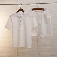 Bộ quần áo đũi nam bộ đồ nam Mantino vải đũi mặc cực mê với chất vải xốp nhẹ , thoáng mát thấm hút mồ hôi