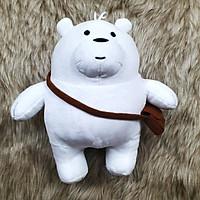 Gấu trúc we are bear màu trắng nhồi bông đeo cặp size 35cm