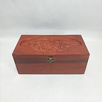 Hộp đựng con dấu, hộp Trang Sức gỗ Hương Chạm Khắc hình chim phượng