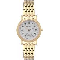Đồng hồ NEOS N-30851L nữ dây thép vàng