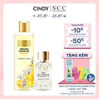 Bộ đôi sữa tắm nước hoa & nước hoa nữ Cindy Bloom Romantic Muse mùi hương quyến rũ lãng mạn 270g + 50ml