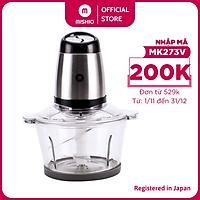 Máy xay thịt Mishio MK273 cối thủy tinh 2.0L - Hàng chính hãng