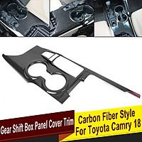 Car Inner Gear Shift Box Panel Frame Cover Trim Carbon Fiber Style Car Sticker for TOYOTA CAMRY 2018-2020