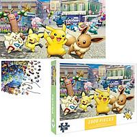 Bộ Tranh Ghép Xếp Hình 1000 Pcs Jigsaw Puzzle Tranh Ghép (75*50cm) Pokemon Bản Đẹp Cao Cấp
