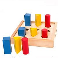 Bộ xếp hình học giáo cụ Montessori đồ chơi giáo dục