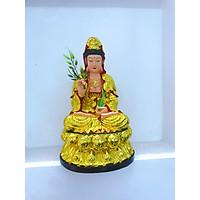 Tượng Phật Bà Quan Âm ngồi trên đài sen cao 28 cm sang trọng