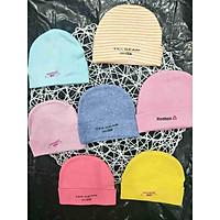 5 nón vải cotton cho bé sơ sinh từ 0-6 tháng.