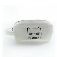 Hộp bút bọc da Meow