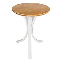 Bàn góc Plyconcept Joy Side Table - Oak and White