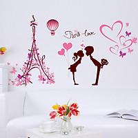 Decal dán tường cặp đôi Paris Love - HP116