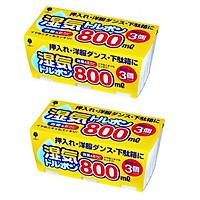 Combo 02 Set Hộp hút ẩm, khử mùi Kokubo 800ml -Hàng nội địa Nhật Bản (03 hộp/Set)
