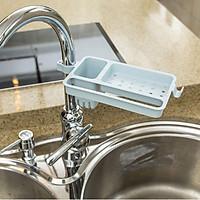 Kệ để đồ rửa chén cạnh vòi rửa chất liệu nhựa_giao màu ngẫu nhiên